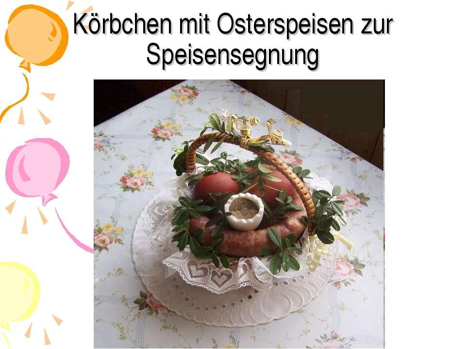 Körbchen mit Osterspeisen zur Speisensegnung