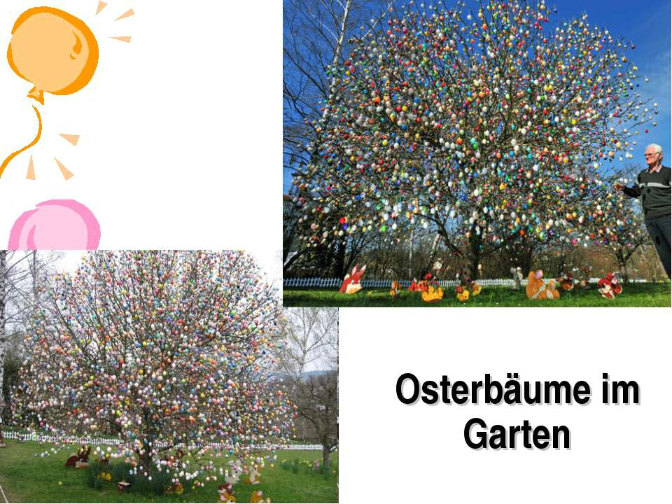Osterbäume im Garten