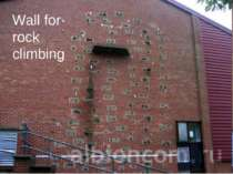 Wall for rock climbing
