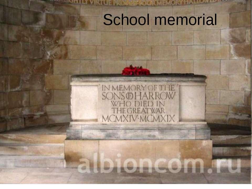 School memorial