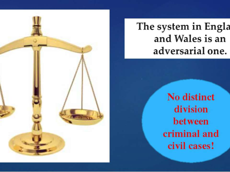 No distinct division between criminal and civil cases!