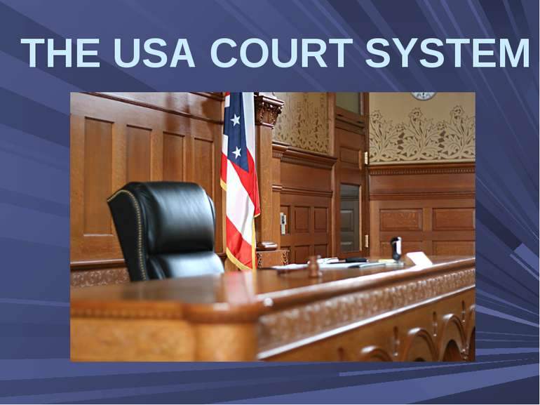 THE USA COURT SYSTEM
