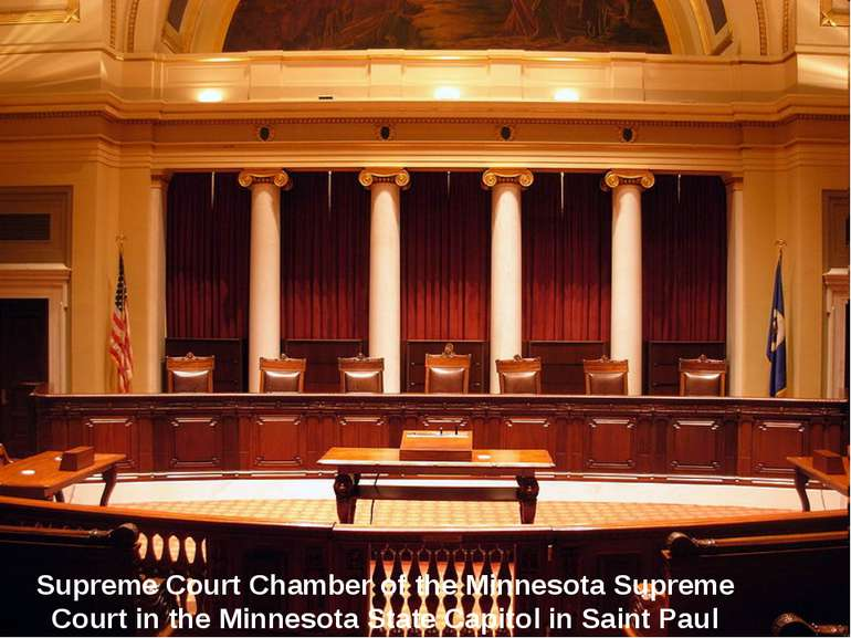 Supreme Court Chamber of the Minnesota Supreme Court in the Minnesota State C...