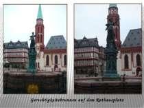 Gerechtigkeitsbrunnen auf dem Rathausplatz