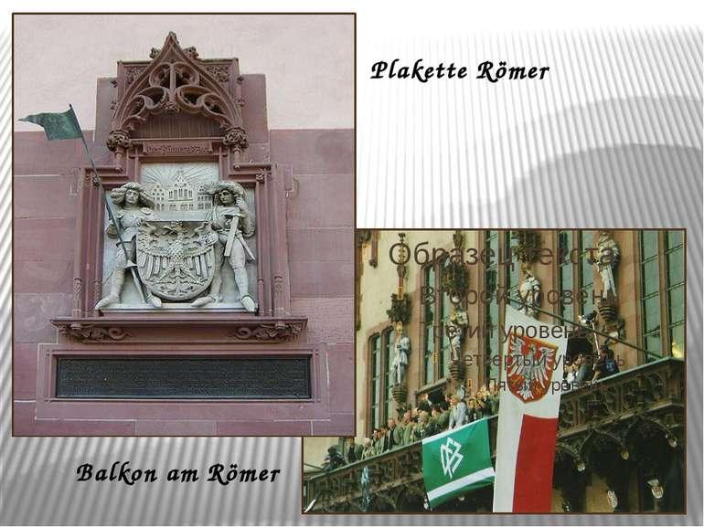 Plakette Römer Balkon am Römer