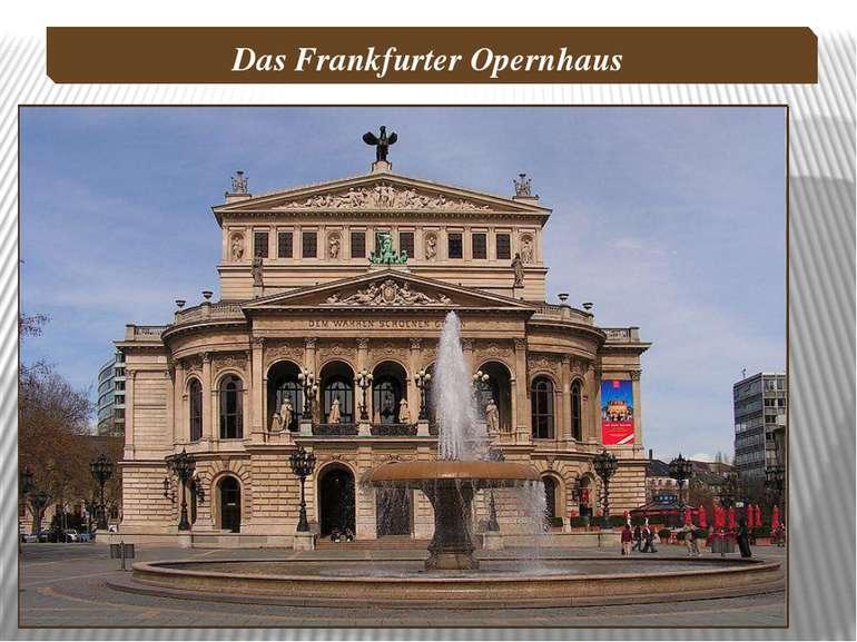Das Frankfurter Opernhaus