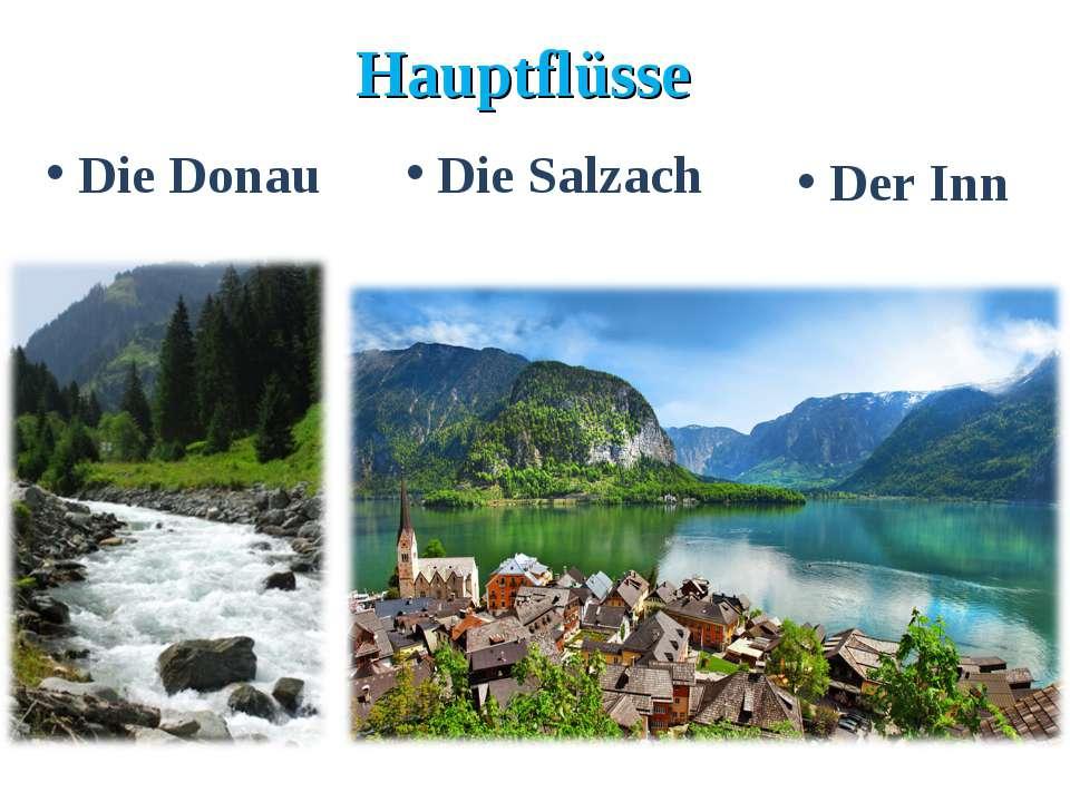 Hauptflüsse Die Donau Die Salzach Der Inn
