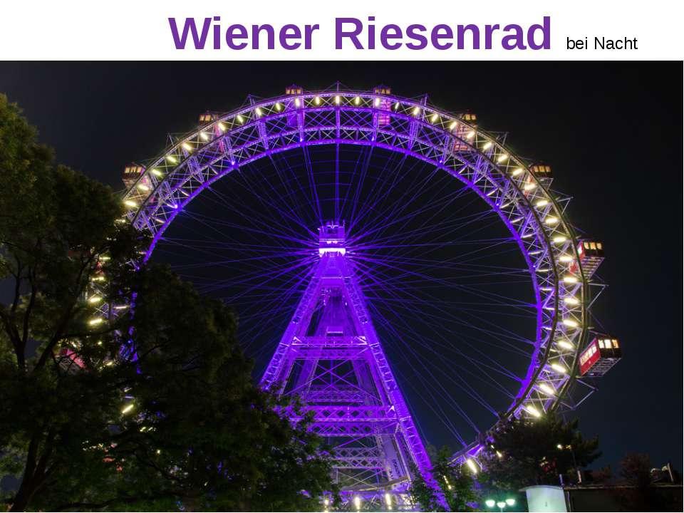 Wiener Riesenrad bei Nacht