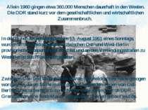 Der Bau der Berliner Mauer In den frühen Morgenstunden des 13. August 1961 ei...
