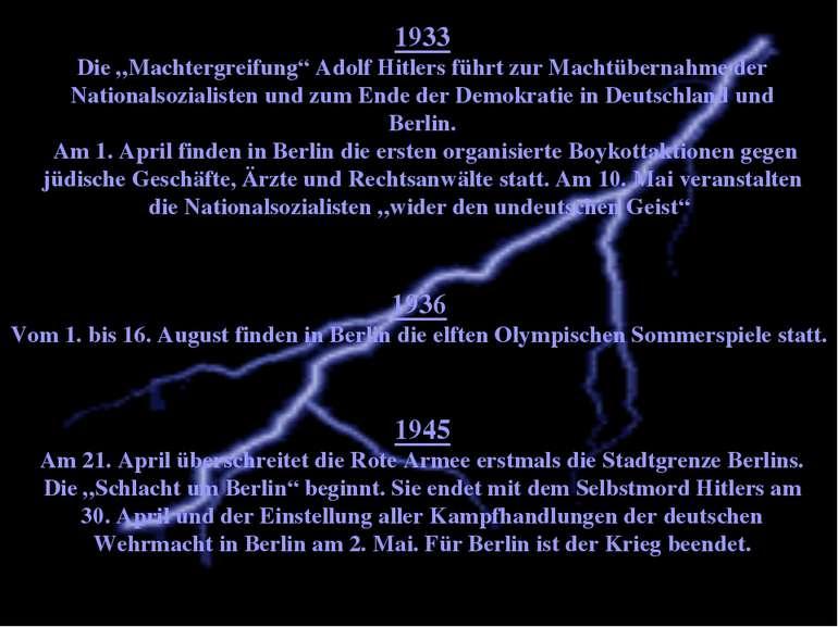 """1933 Die """"Machtergreifung"""" Adolf Hitlers führt zur Machtübernahme der Nationa..."""