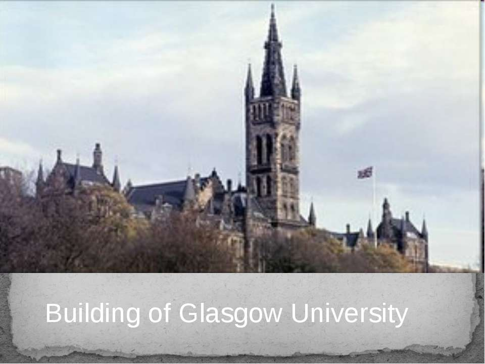 Building of Glasgow University