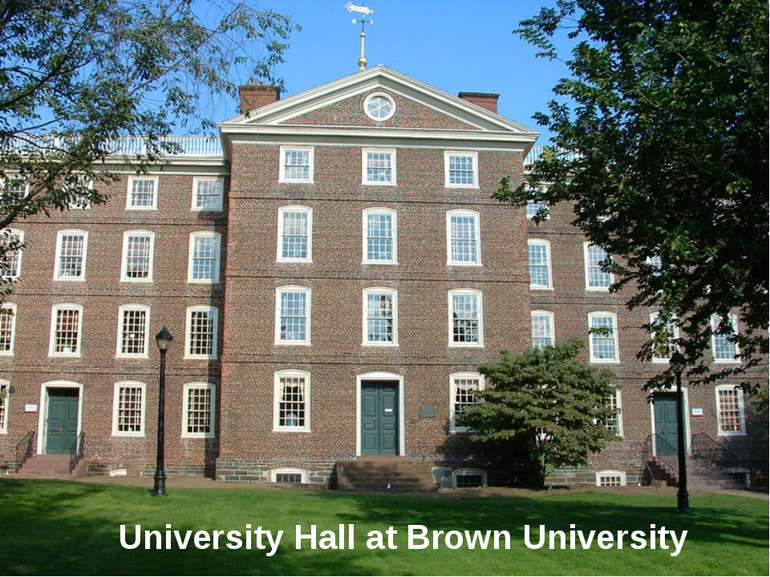 University Hall at Brown University