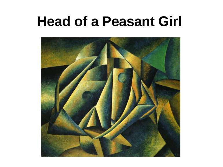 Head of a Peasant Girl