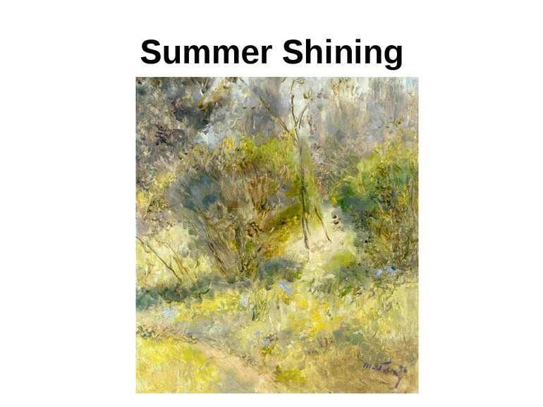 Summer Shining
