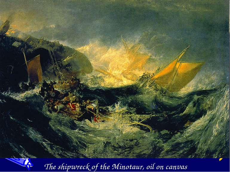 The shipwreck of the Minotaur, oil on canvas