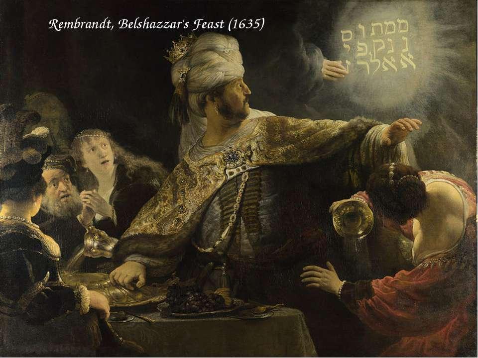 Rembrandt, Belshazzar's Feast (1635)