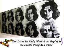 Ten Lizes by Andy Warhol on display in the Centre Pompidou-Paris