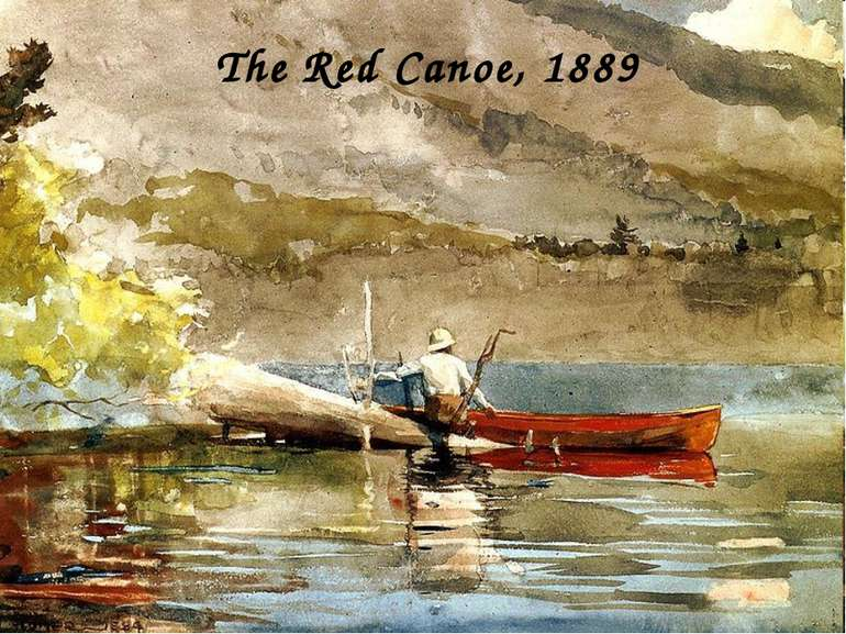 The Red Canoe, 1889