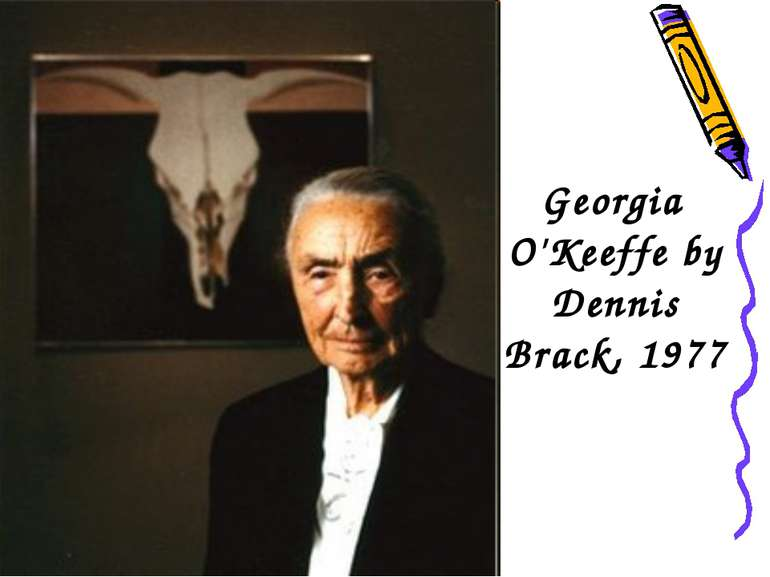 Georgia O'Keeffe by Dennis Brack, 1977