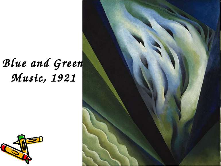 Blue and Green Music, 1921