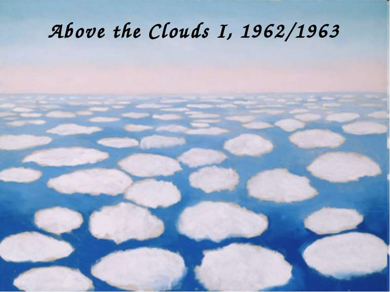 Above the Clouds I, 1962/1963