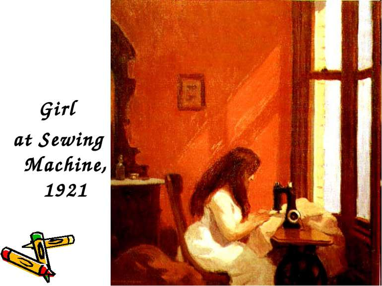 Girl at Sewing Machine, 1921