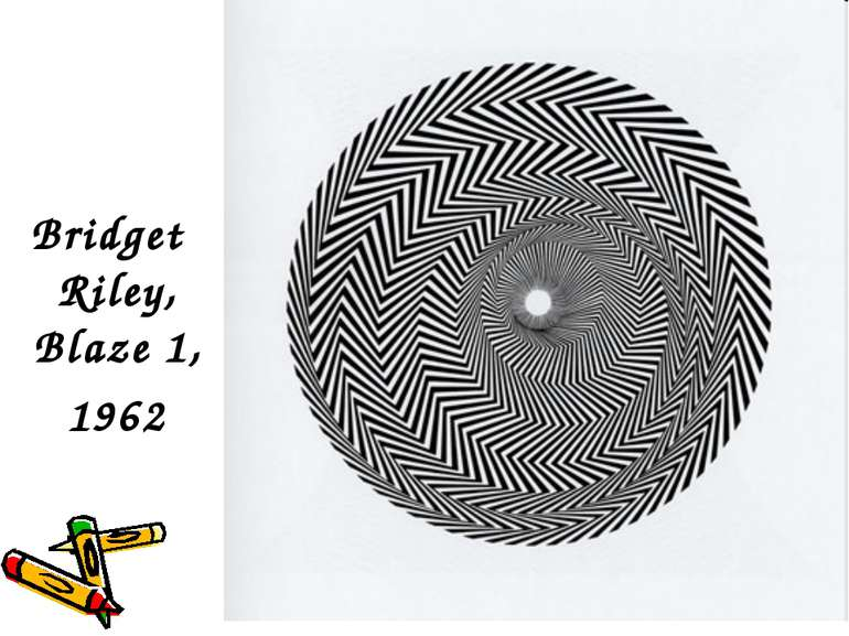 Bridget Riley, Blaze 1, 1962