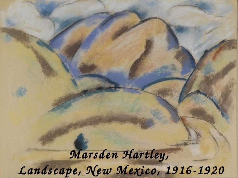 Marsden Hartley, Landscape, New Mexico, 1916-1920