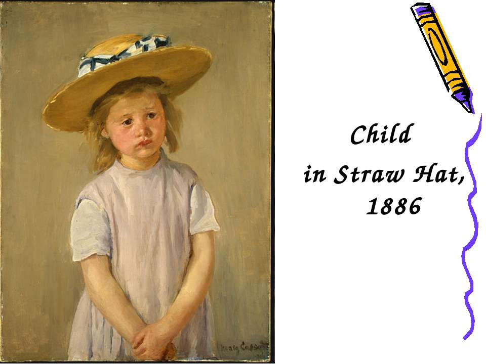 Child in Straw Hat, 1886