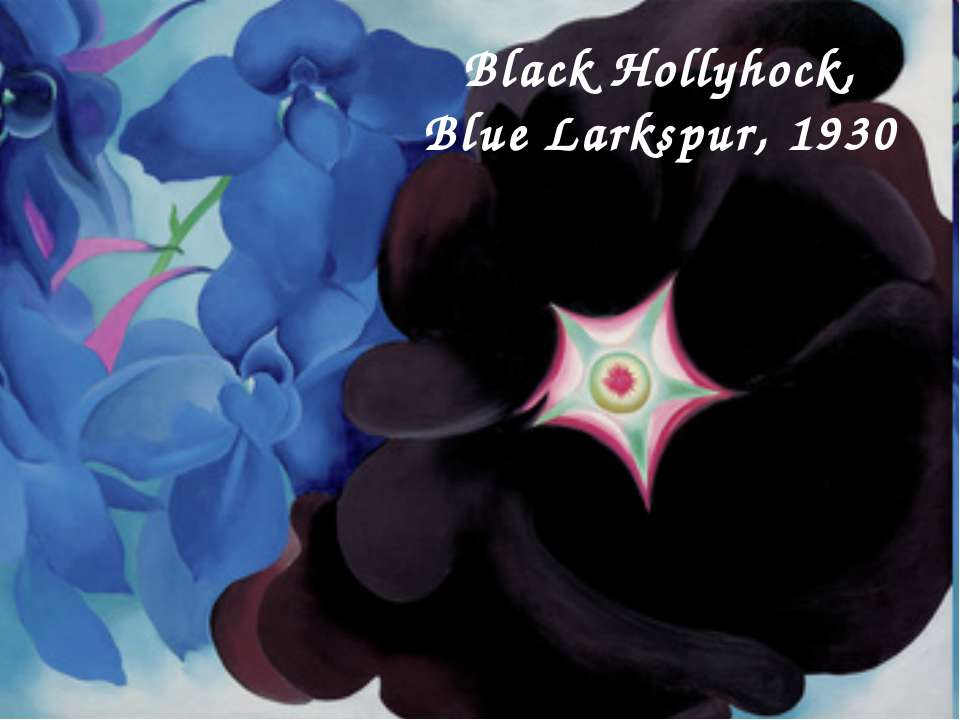 Black Hollyhock, Blue Larkspur, 1930