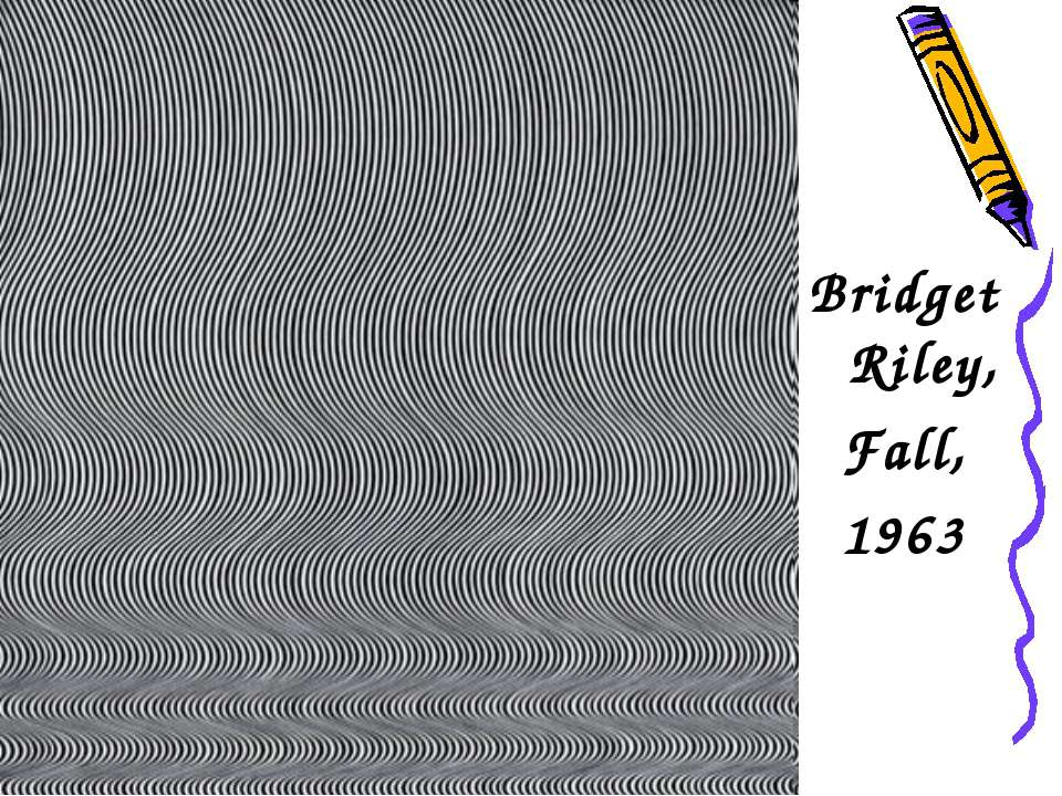Bridget Riley, Fall, 1963