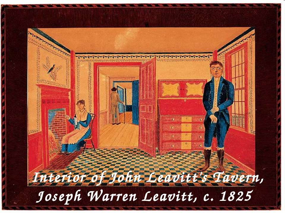 Interior of John Leavitt's Tavern, Joseph Warren Leavitt, c. 1825