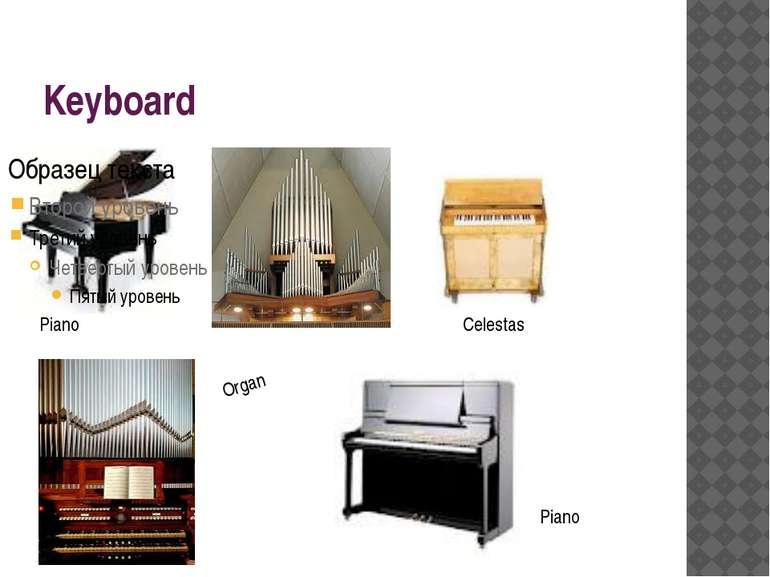 Keyboard Piano Organ Celestas Piano