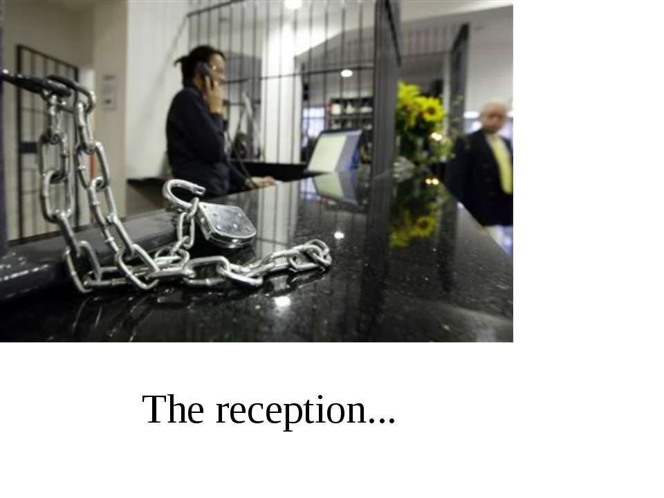 The reception...