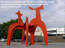Sculpture Le Halebardier (1971) by Alexander Calder Outside the Sprengel Muse...