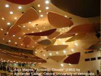 "Aula Magna, ""Acoustic Clouds"" (1953) by Alexander Calder. Central University ..."