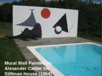 Mural Wall Painted by Alexander Calder for Stillman House (1954)