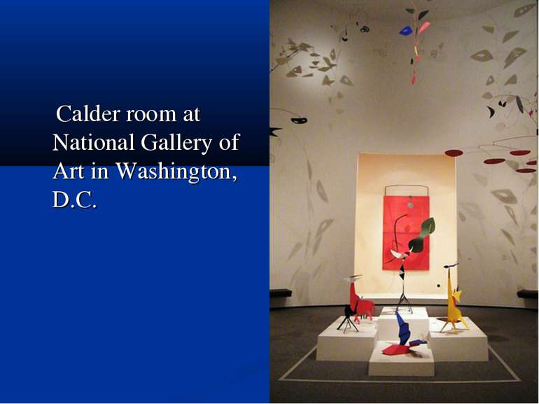 Calder room at National Gallery of Art in Washington, D.C.