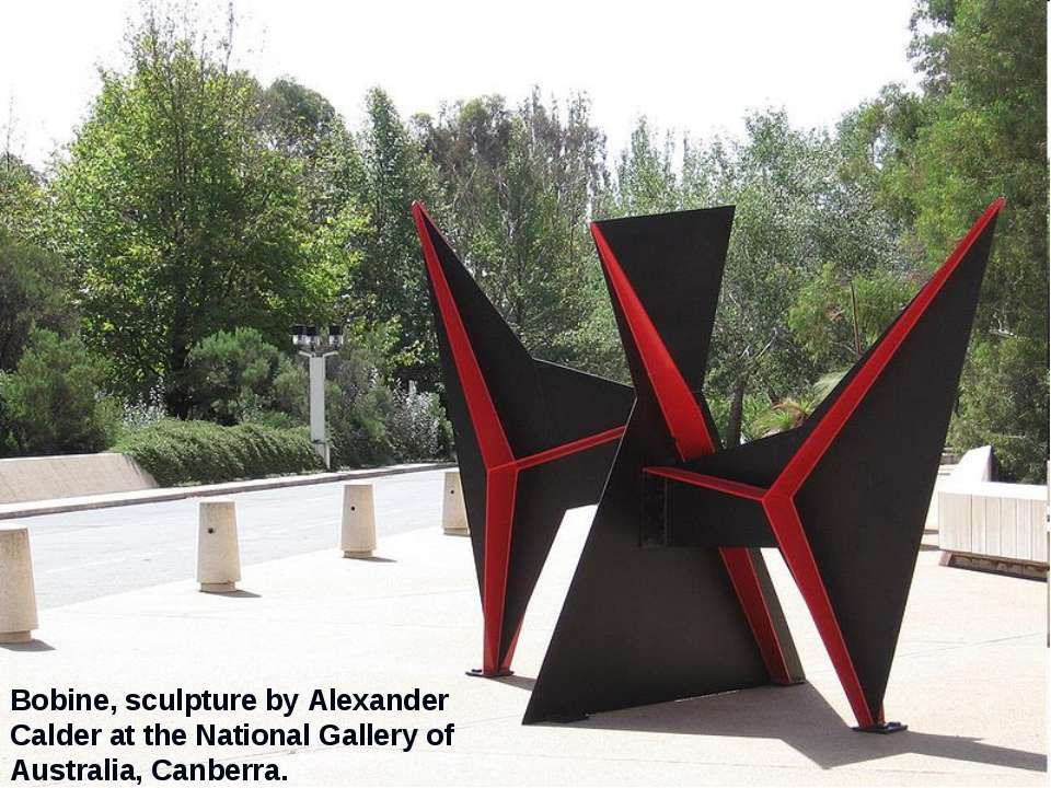 Bobine, sculpture by Alexander Calder at the National Gallery of Australia, C...