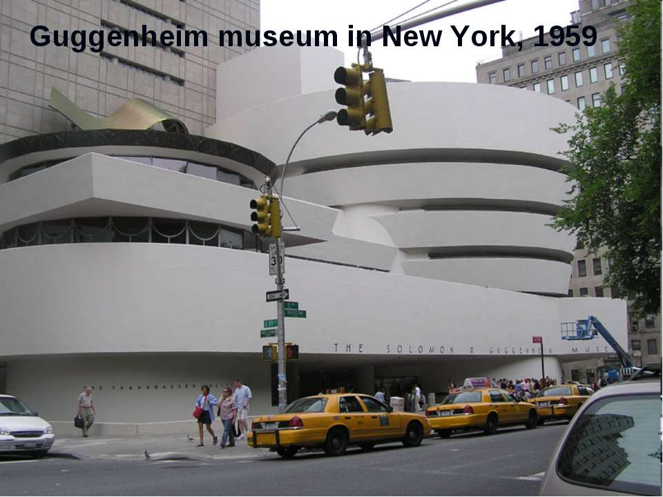 Guggenheim museum in New York, 1959