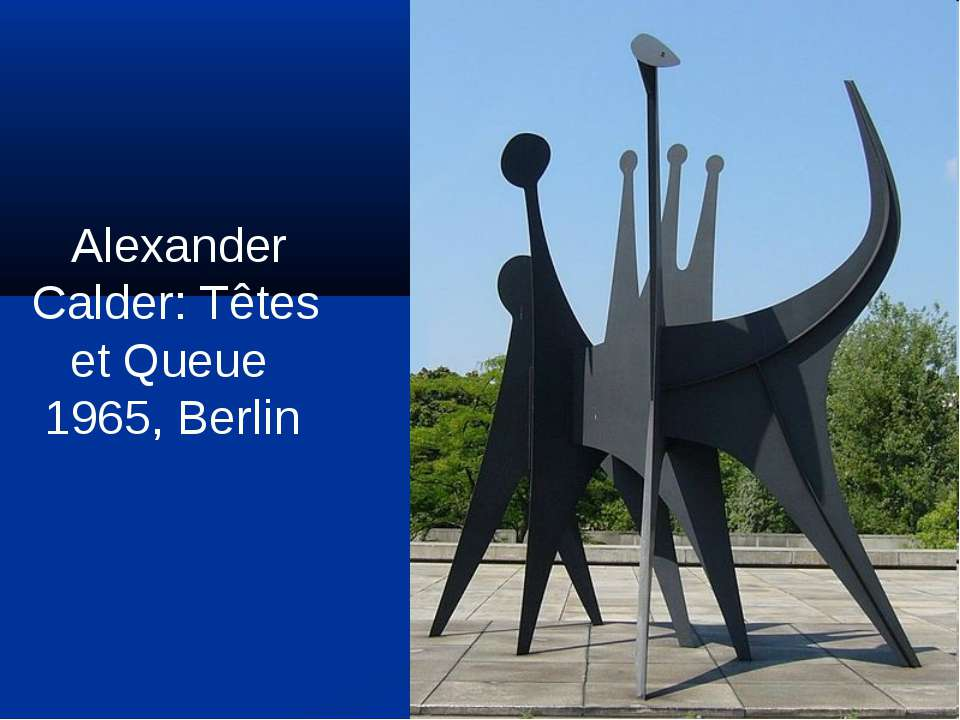 Alexander Calder: Têtes et Queue 1965, Berlin