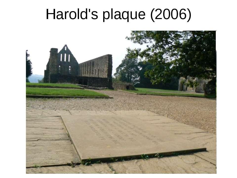 Harold's plaque (2006)