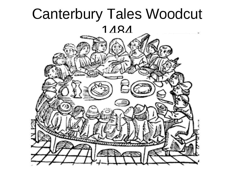Canterbury Tales Woodcut 1484