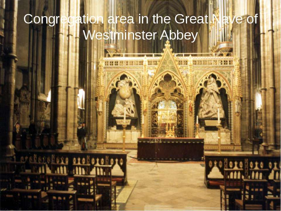 Congregation area in the Great Nave of Westminster Abbey