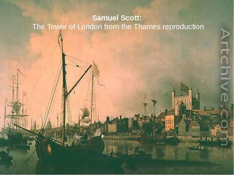 Samuel Scott: The Tower of London from the Thames reproduction