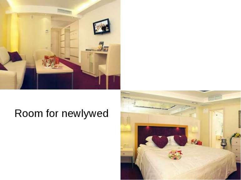 Room for newlywed