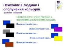 Психологія людини і сполучення кольорів Які психологічні стани пов'язані з на...