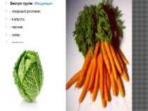 Виступ групи «Медуниця» - лікарські рослини; - капуста; - часник; - липа; - м...