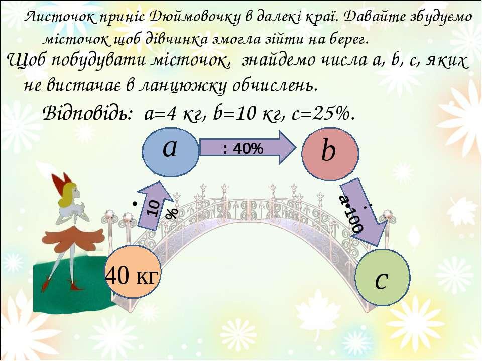 Щоб побудувати місточок, знайдемо числа a, b, c, яких не вистачає в ланцюжку ...