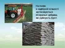 На полях в надмірній кількості застосовуються мінеральні добрива, які руйнуют...